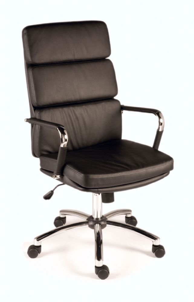TEKNIK DECO Stylish Executive Chair In Faux Leather in Black, Brown, Red or White